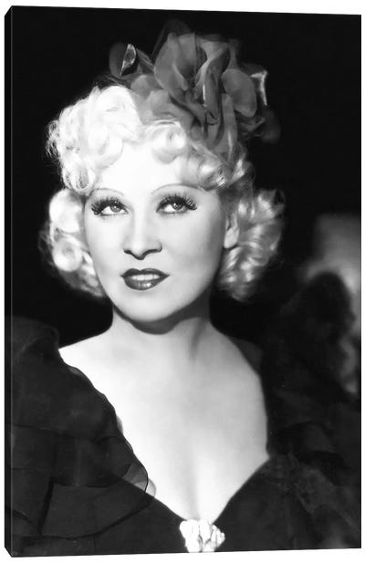 Mae West With A Glamorous Hair Bow Canvas Art Print
