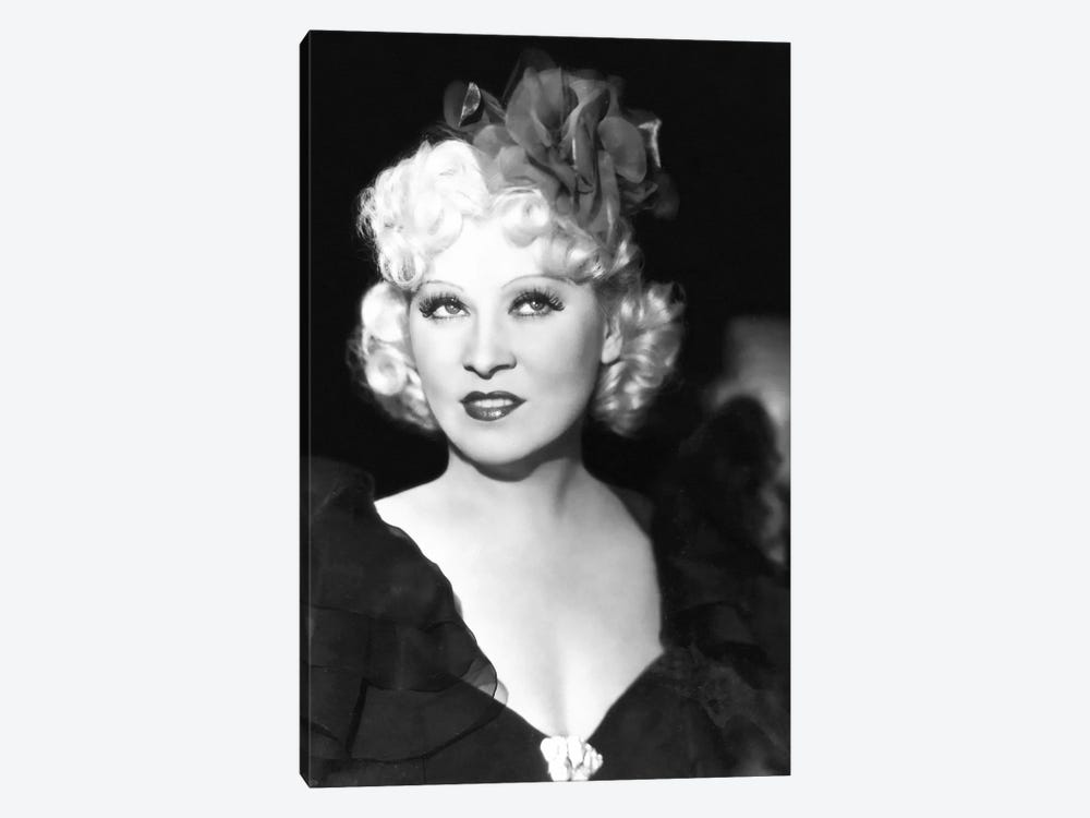 Mae West With A Glamorous Hair Bow by Radio Days 1-piece Canvas Wall Art