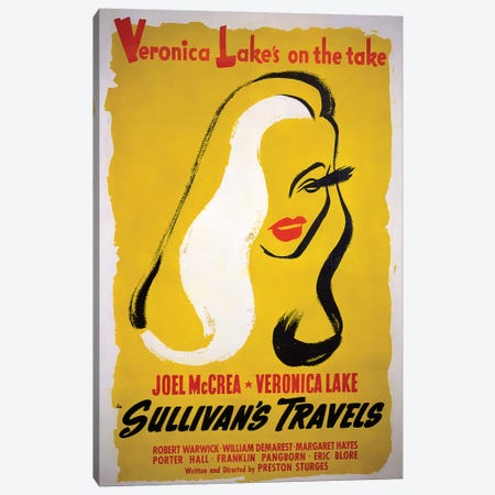 Sullivan's Travels Film Poster Canvas Print #RAD33} by Radio Days Canvas Print