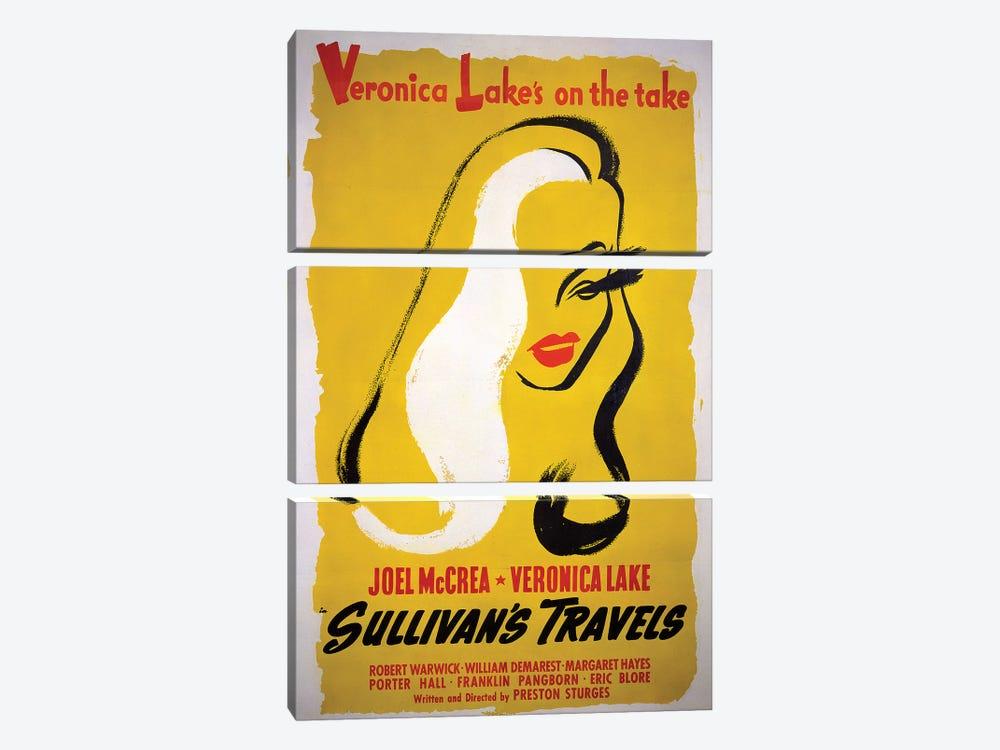 Sullivan's Travels Film Poster by Radio Days 3-piece Canvas Artwork