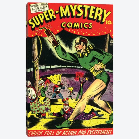 Super Mystery Comics V 4-4 Oct. Canvas Print #RAD343} by Radio Days Art Print