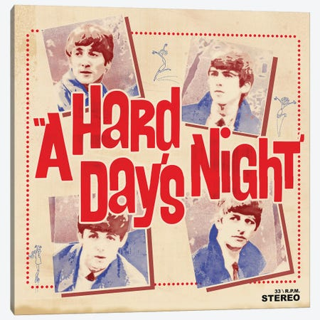 A Hard Day's Night I Canvas Print #RAD35} by Radio Days Canvas Artwork