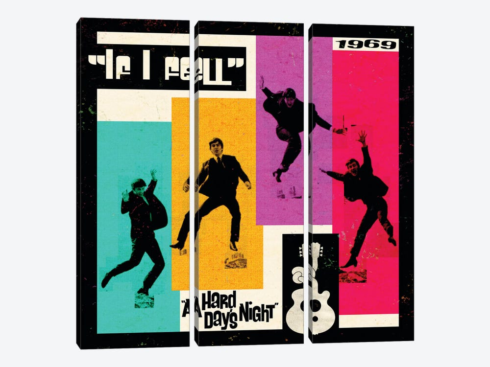 A Hard Day's Night II by Radio Days 3-piece Canvas Art