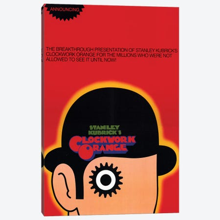 A Clockwork Orange Film Poster Canvas Print #RAD3} by Radio Days Canvas Wall Art