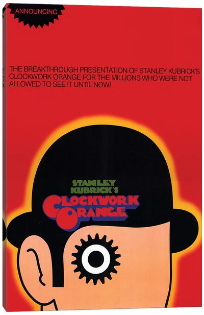 A Clockwork Orange Film Poster Canvas Art Print