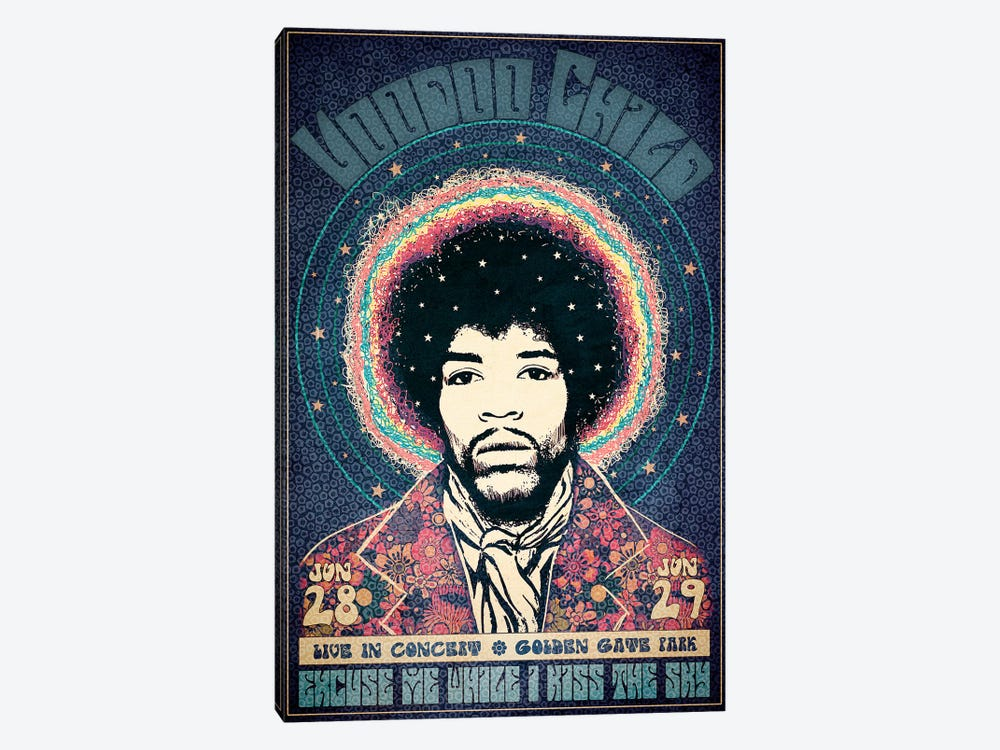 Voodoo Child by Radio Days 1-piece Canvas Art Print