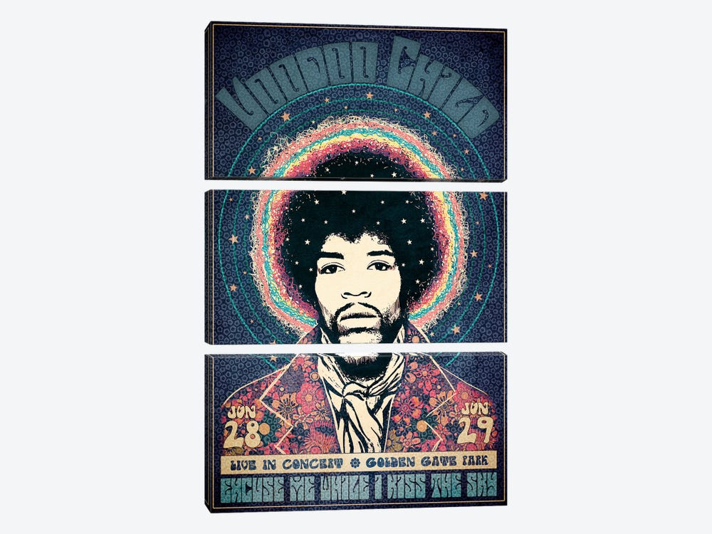Voodoo Child by Radio Days 3-piece Art Print