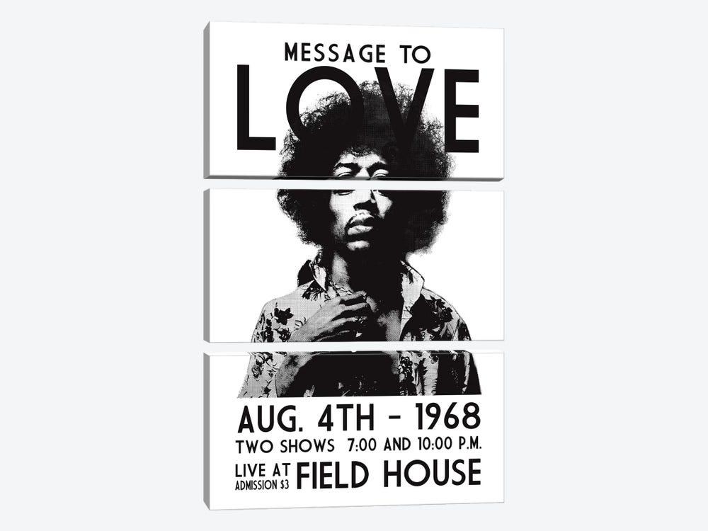 Message To Love by Radio Days 3-piece Canvas Art