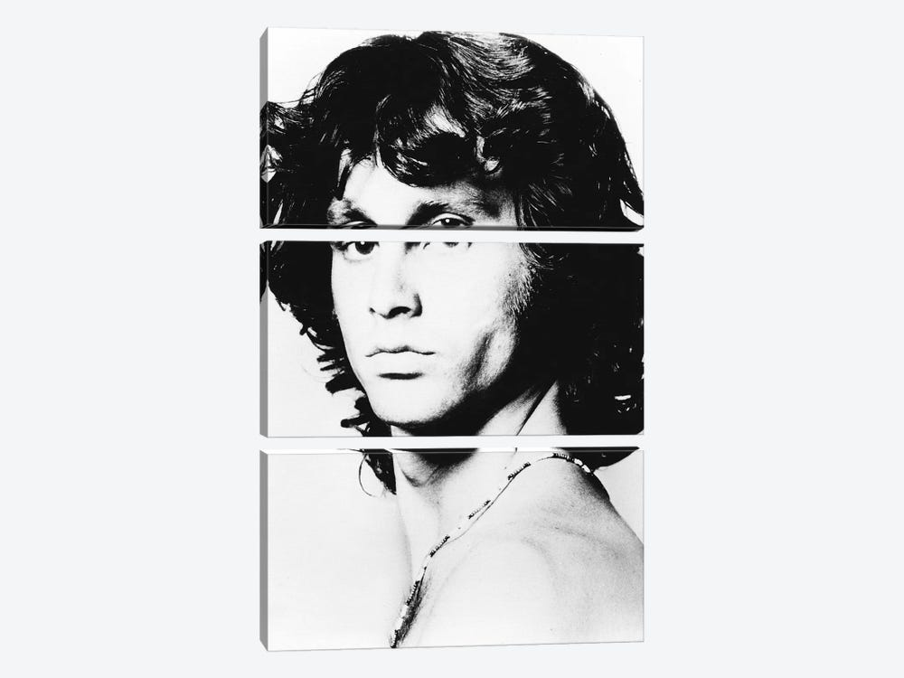 Jim Morrison Pose I by Radio Days 3-piece Canvas Print