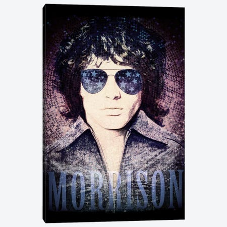 Jim Morrison Psychedelic Poster Canvas Print #RAD49} by Radio Days Canvas Artwork