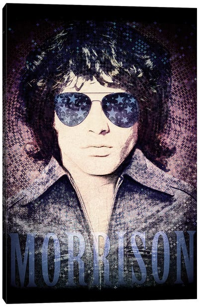 Jim Morrison Psychedelic Poster Canvas Art Print