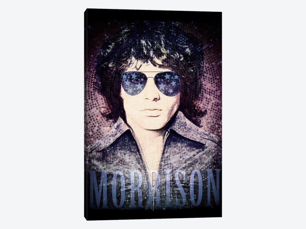 Jim Morrison Psychedelic Poster by Radio Days 1-piece Art Print