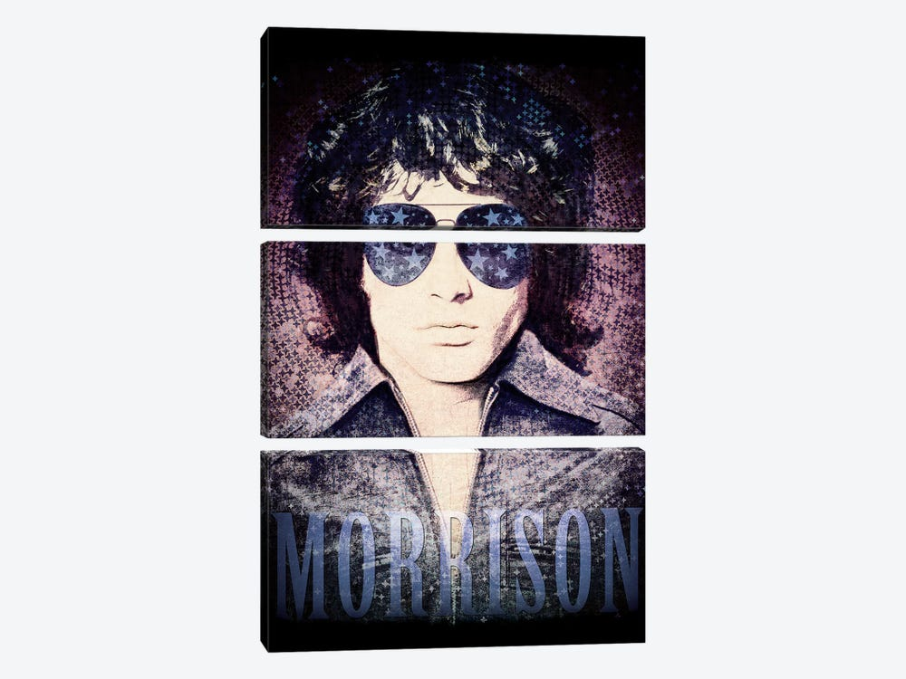 Jim Morrison Psychedelic Poster by Radio Days 3-piece Canvas Art Print
