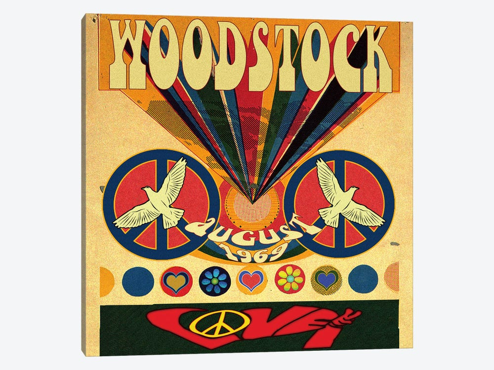 Woodstock Love Invite Poster by Radio Days 1-piece Art Print