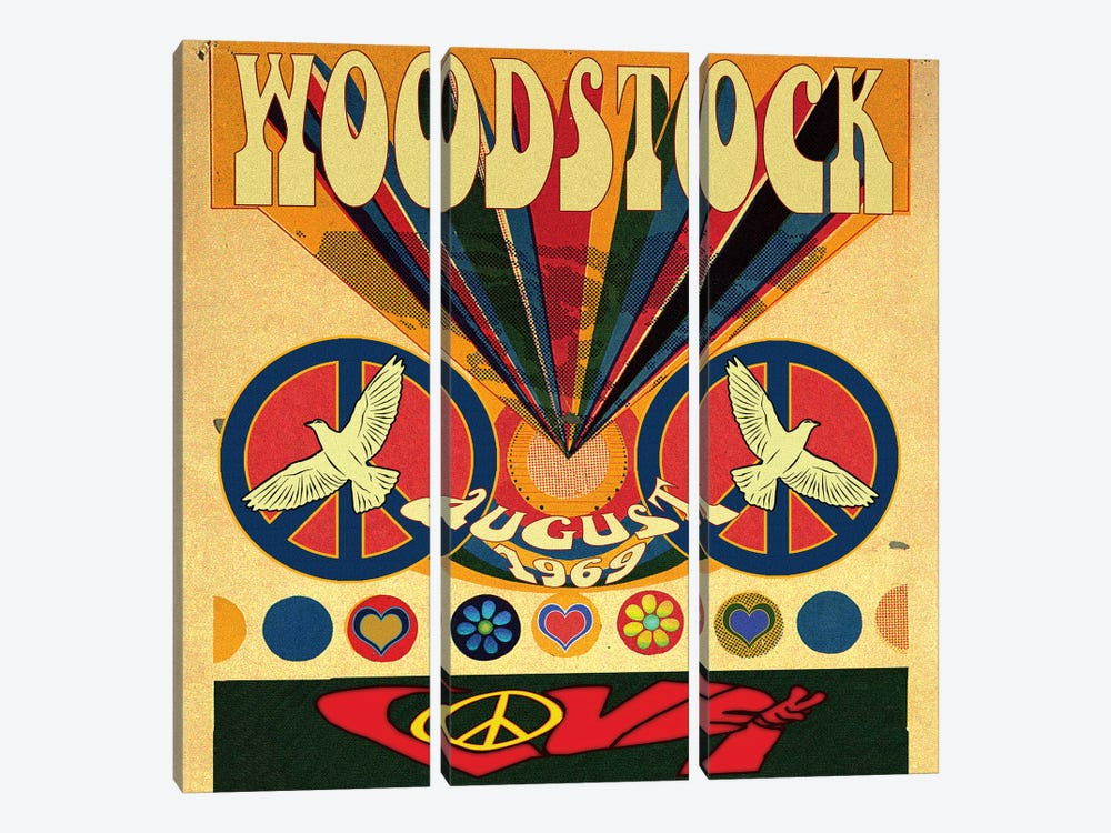 Woodstock Love Invite Poster by Radio Days 3-piece Art Print