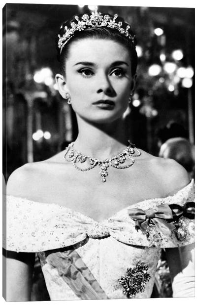 Audrey Hepburn As Princess Ann In Roman Holiday Canvas Art Print