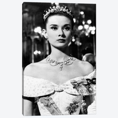 Audrey Hepburn As Princess Ann In Roman Holiday Canvas Print #RAD55} by Radio Days Canvas Wall Art