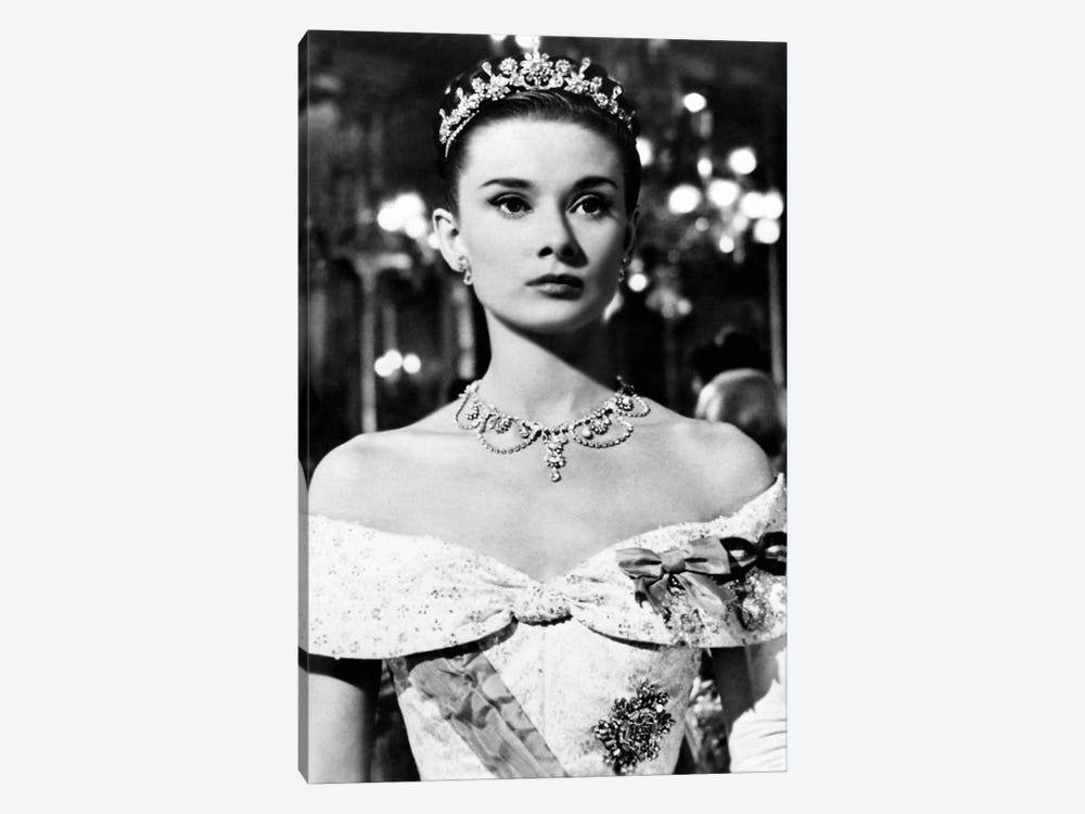Audrey Hepburn As Princess Ann In Roman Holiday by Radio Days 1-piece Canvas Artwork