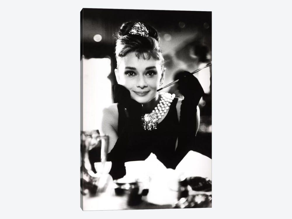 A Smiling Audrey Hepburn by Radio Days 1-piece Canvas Art