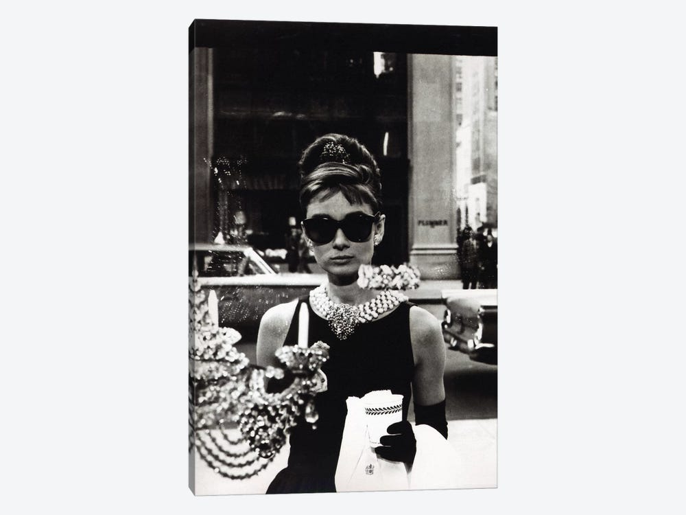Audrey Hepburn As Seen Through Tiffany's Storefront Window by Radio Days 1-piece Art Print