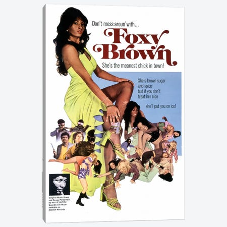 Foxy Brown Film Poster Canvas Print #RAD5} by Radio Days Canvas Print