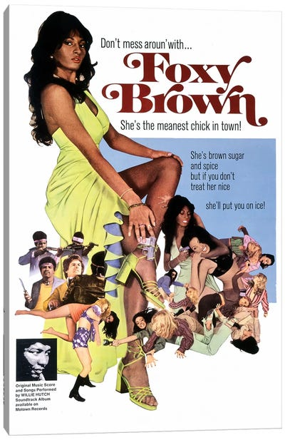Foxy Brown Film Poster Canvas Art Print
