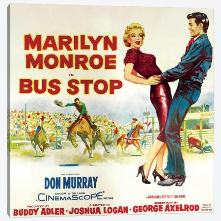 Bus Stop Film Poster (Rodeo Scene) Canvas Print #RAD60} by Radio Days Canvas Wall Art