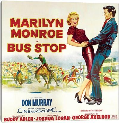 Bus Stop Film Poster (Rodeo Scene) Canvas Art Print
