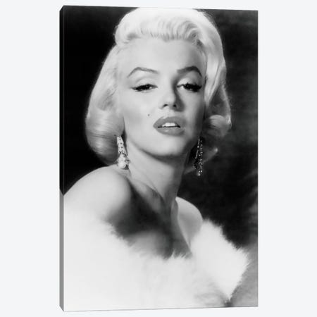 Classic Marilyn Monroe Pose I Canvas Print #RAD61} by Radio Days Canvas Wall Art