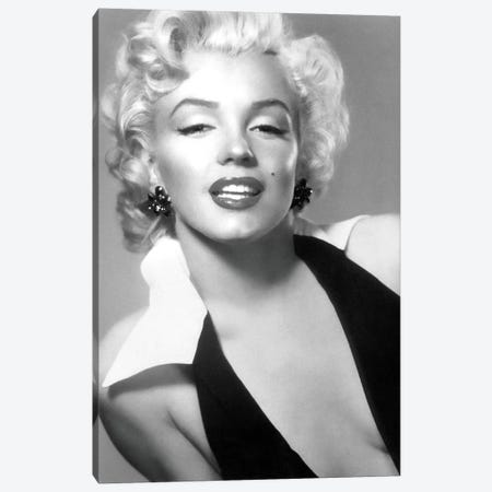 Classic Marilyn Monroe Pose II Canvas Print #RAD62} by Radio Days Canvas Wall Art