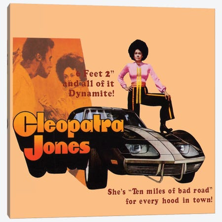 Cleopatra Jones Promotional Poster Canvas Print #RAD63} by Radio Days Canvas Wall Art