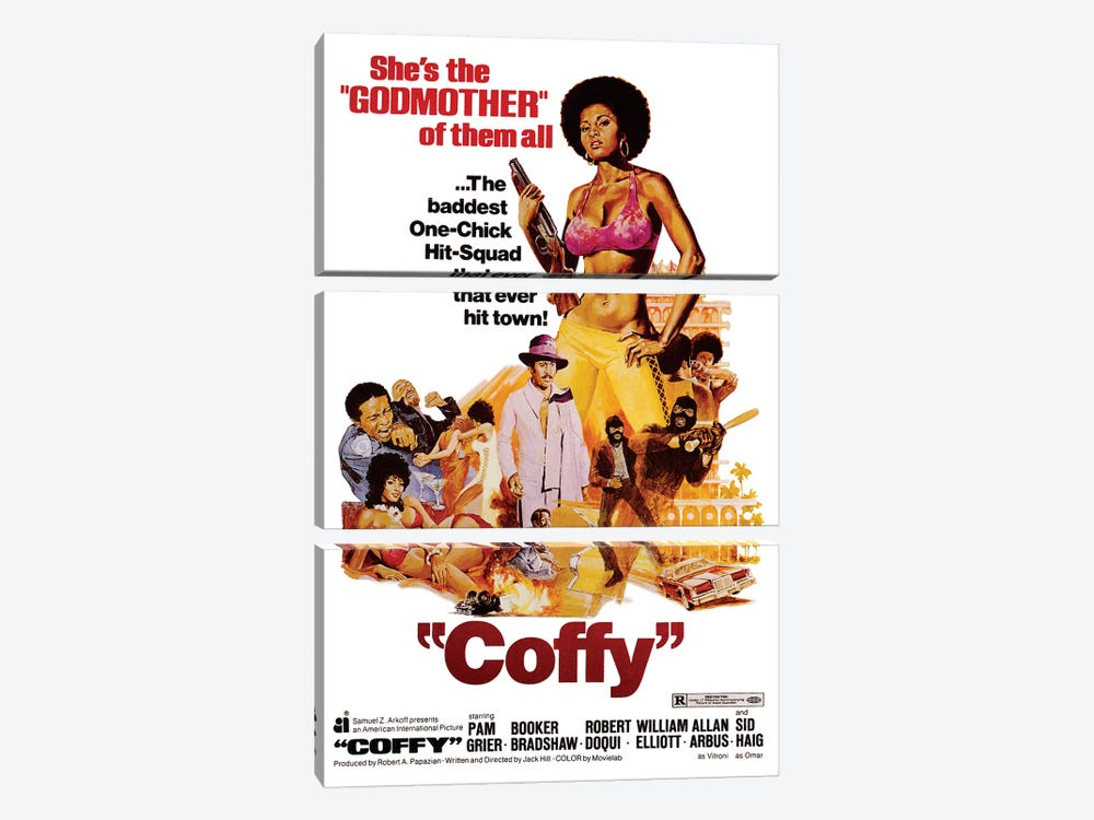 Coffy Film Poster by Radio Days 3-piece Canvas Art