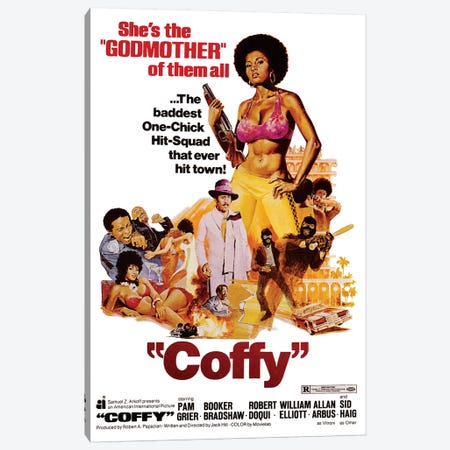 Coffy Film Poster Canvas Print #RAD64} by Radio Days Canvas Print