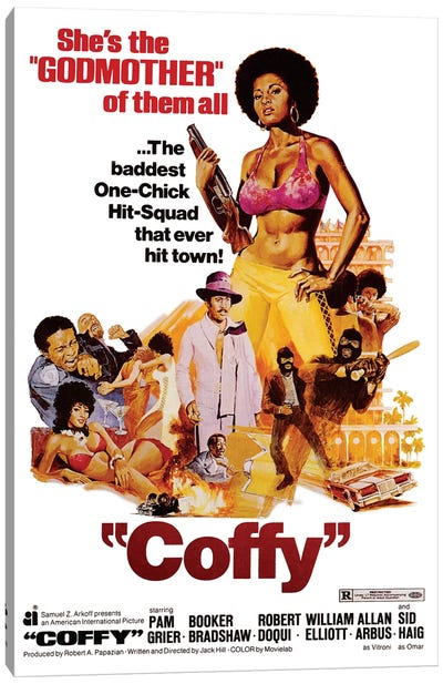 Coffy Film Poster Canvas Art Print