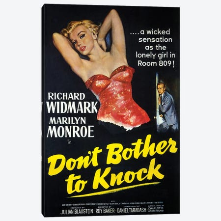 Don't Bother To Knock Film Poster Canvas Print #RAD65} by Radio Days Art Print