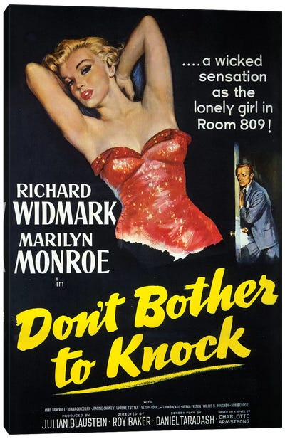 Don't Bother To Knock Film Poster Canvas Art Print