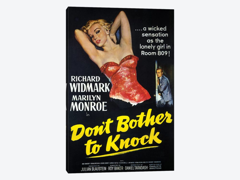 Don't Bother To Knock Film Poster by Radio Days 1-piece Canvas Art Print