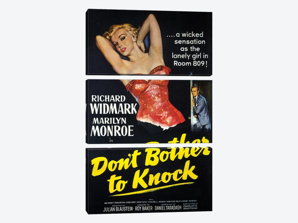 Don't Bother To Knock Film Poster by Radio Days 3-piece Art Print