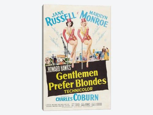 Gentlemen Prefer Blondes Film Poster Canvas Artwork By Radio Days Icanvas