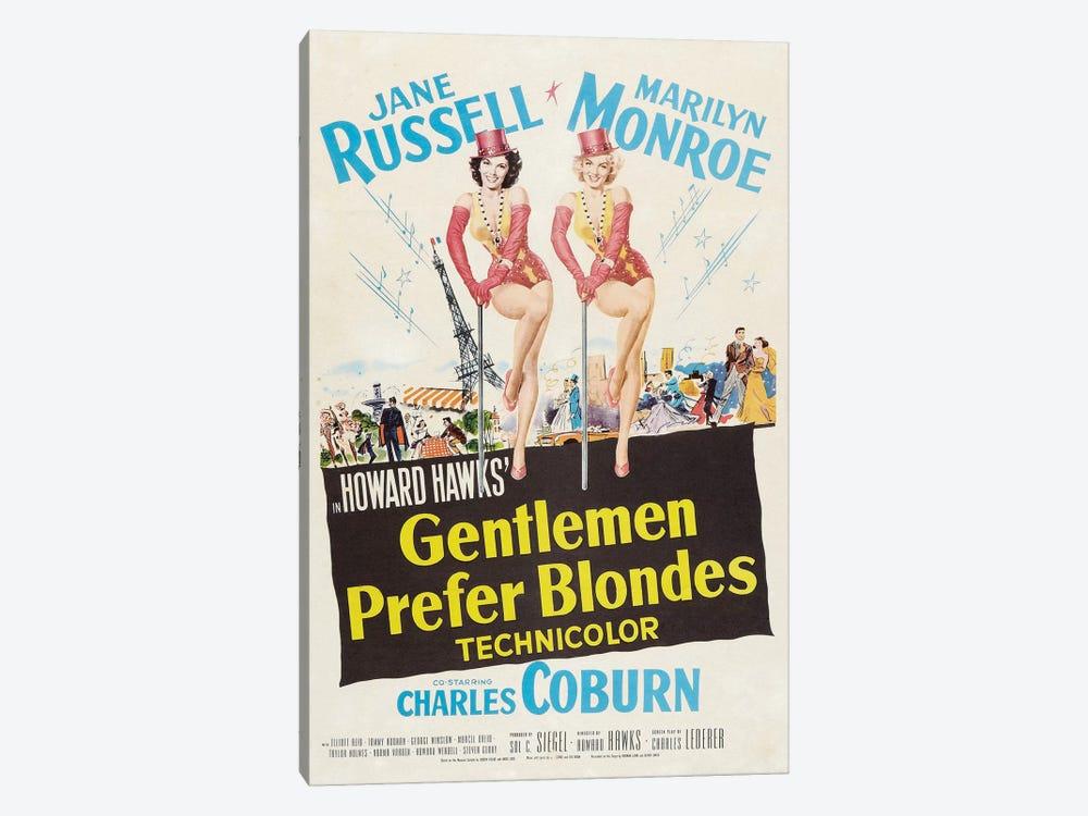 Gentlemen Prefer Blondes Film Poster by Radio Days 1-piece Canvas Artwork