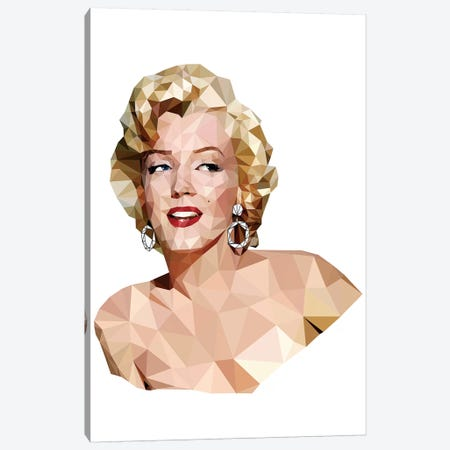 Geometric Vector Marilyn Monroe Canvas Print #RAD67} by Radio Days Canvas Print