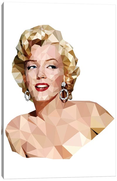 Geometric Vector Marilyn Monroe Canvas Print #RAD67