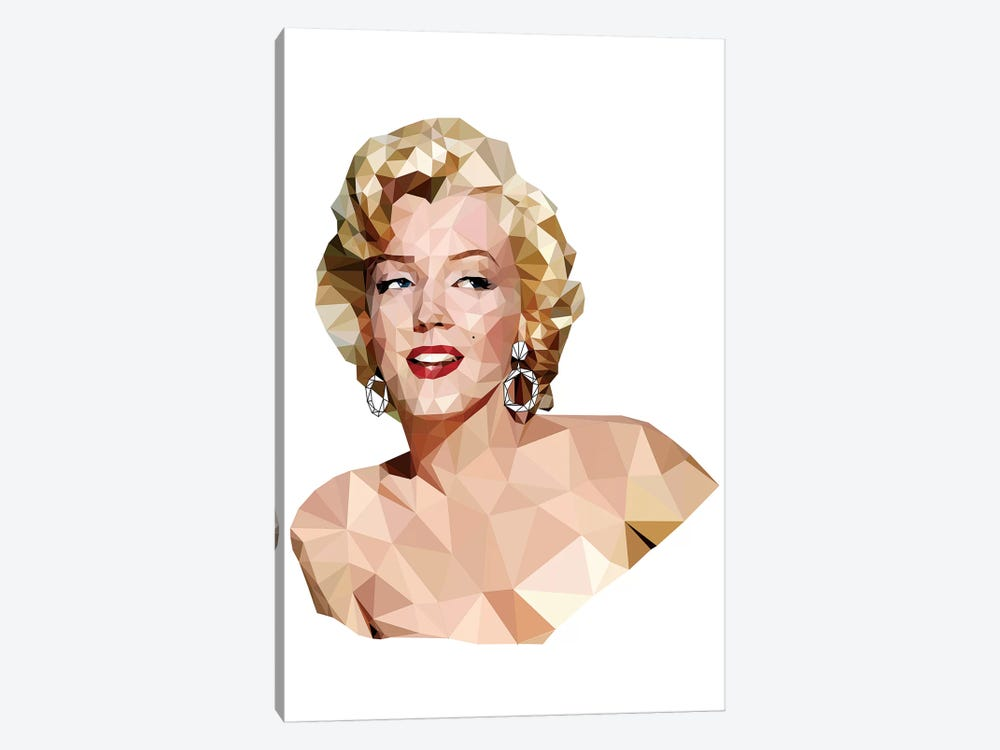 Geometric Vector Marilyn Monroe by Radio Days 1-piece Canvas Art Print