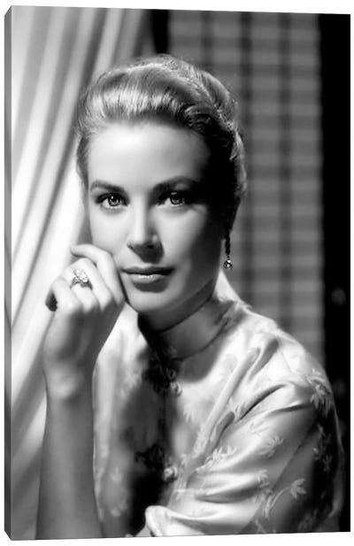 Grace Kelly In An Oriental Blouse Canvas Print #RAD68