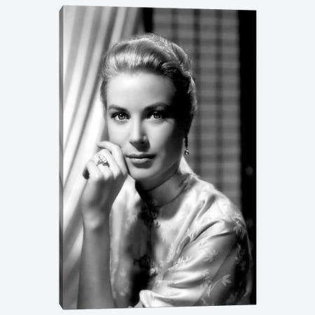 Grace Kelly In An Oriental Blouse Canvas Print #RAD68} by Radio Days Canvas Wall Art