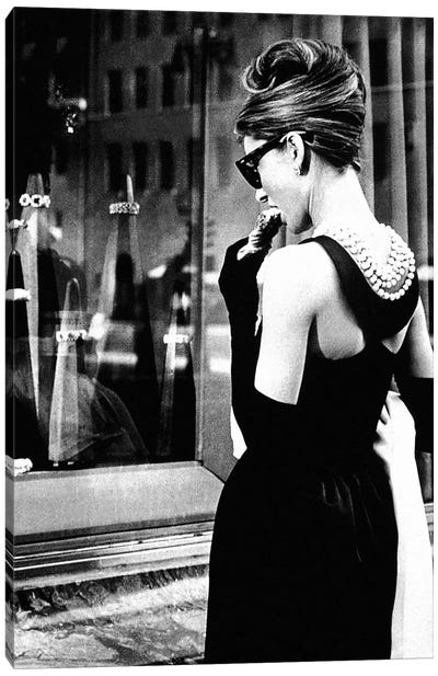 Breakfast At Tiffany's Series: Audrey Hepburn Window Shopping I Canvas Print #RAD6