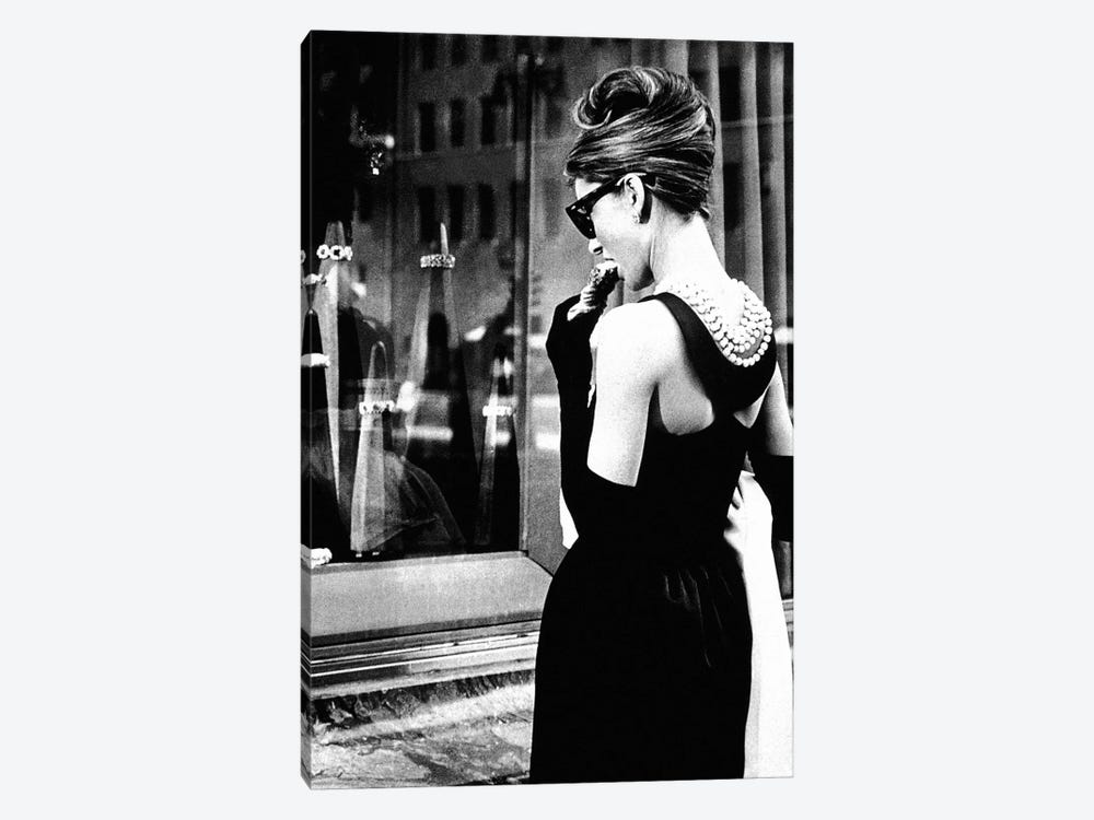 149df87fc885 Audrey Hepburn Window Shopping I by Radio Days 1-piece Canvas Wall Art ...