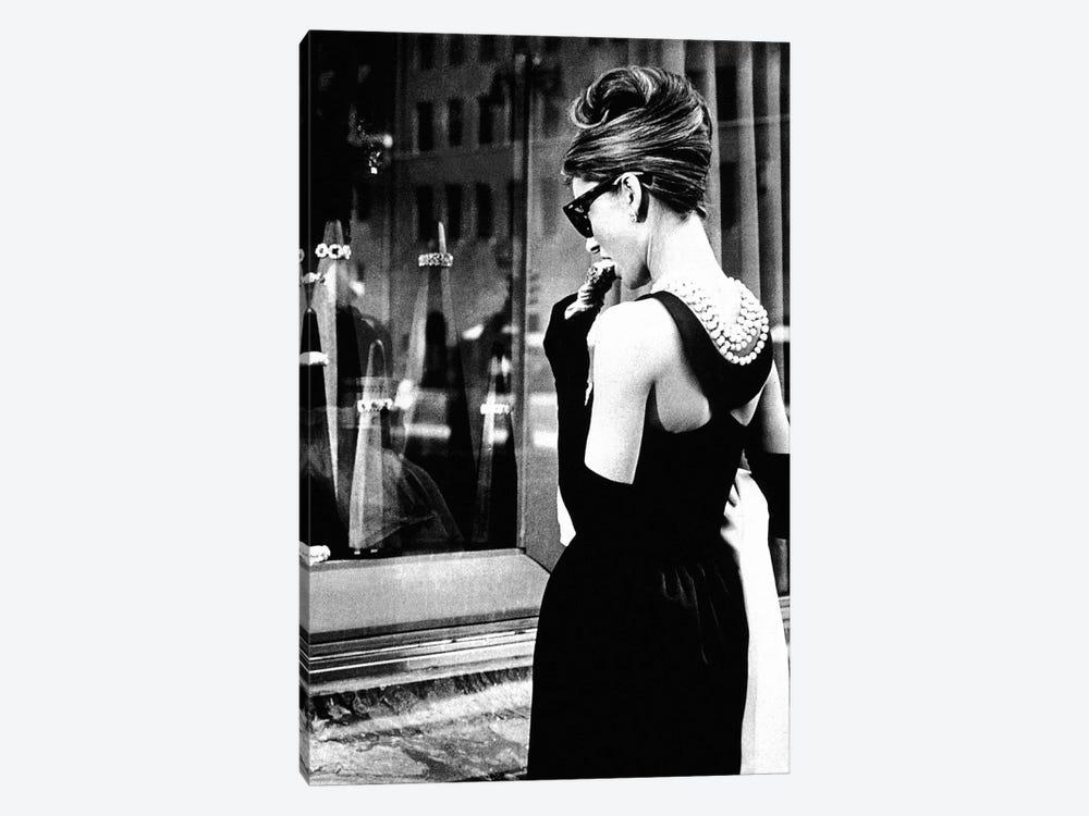 Audrey Hepburn Window Shopping I by Radio Days 1-piece Canvas Wall Art