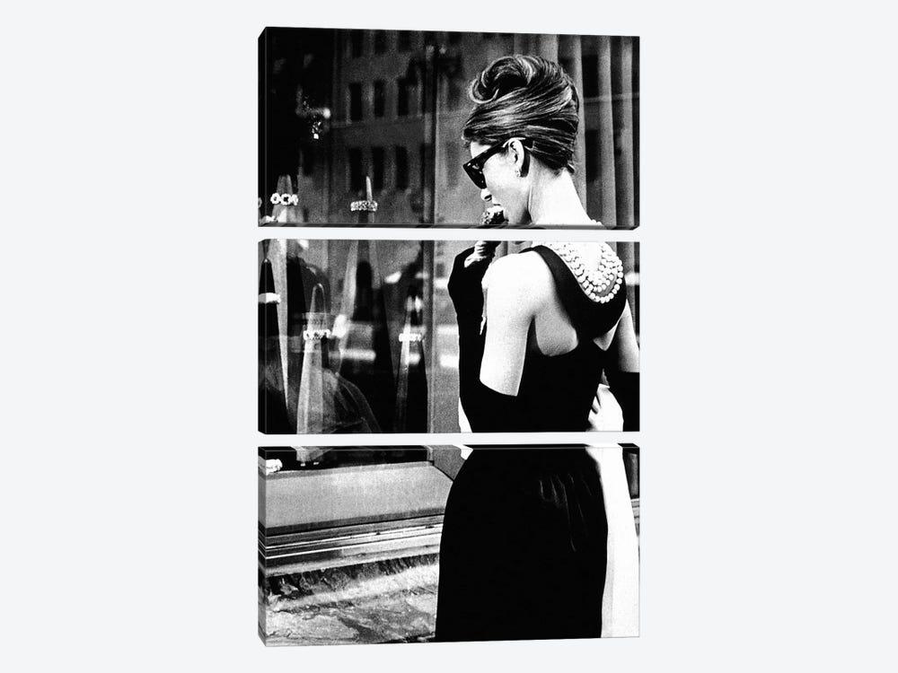 Audrey Hepburn Window Shopping I by Radio Days 3-piece Canvas Wall Art