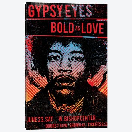 Jimi Hendrix Experience Tour Poster Canvas Print #RAD71} by Radio Days Canvas Art Print